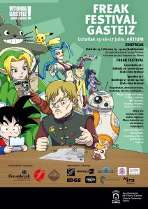 Cartel del Freak festival de Vitoria- Gasteiz 2016
